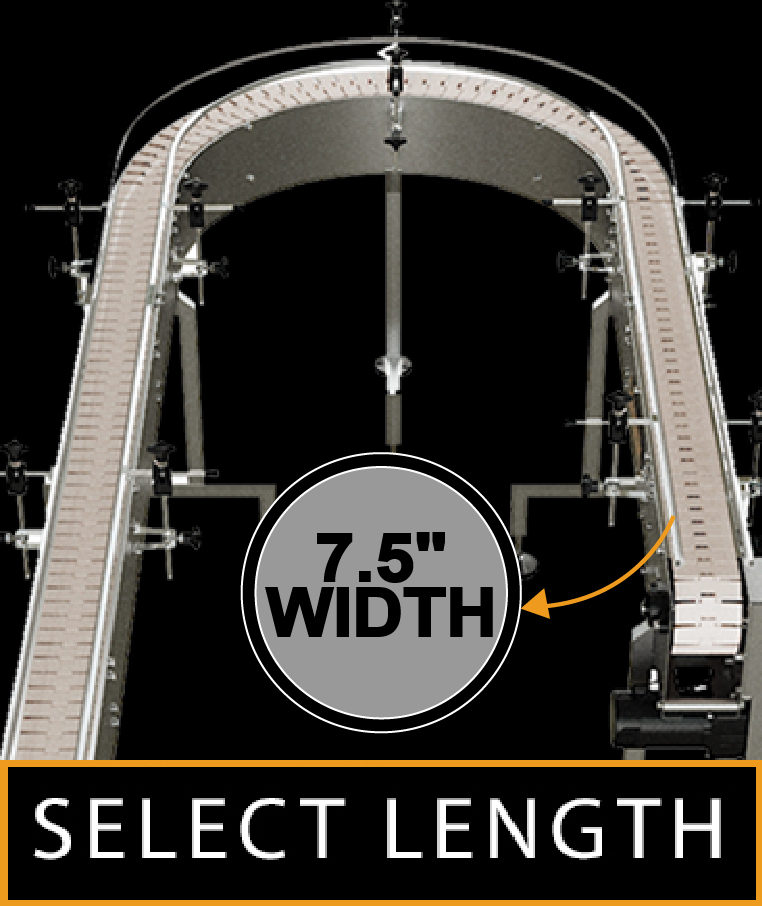 """180 Degrees Curved Conveyor Width 7.5"""""""