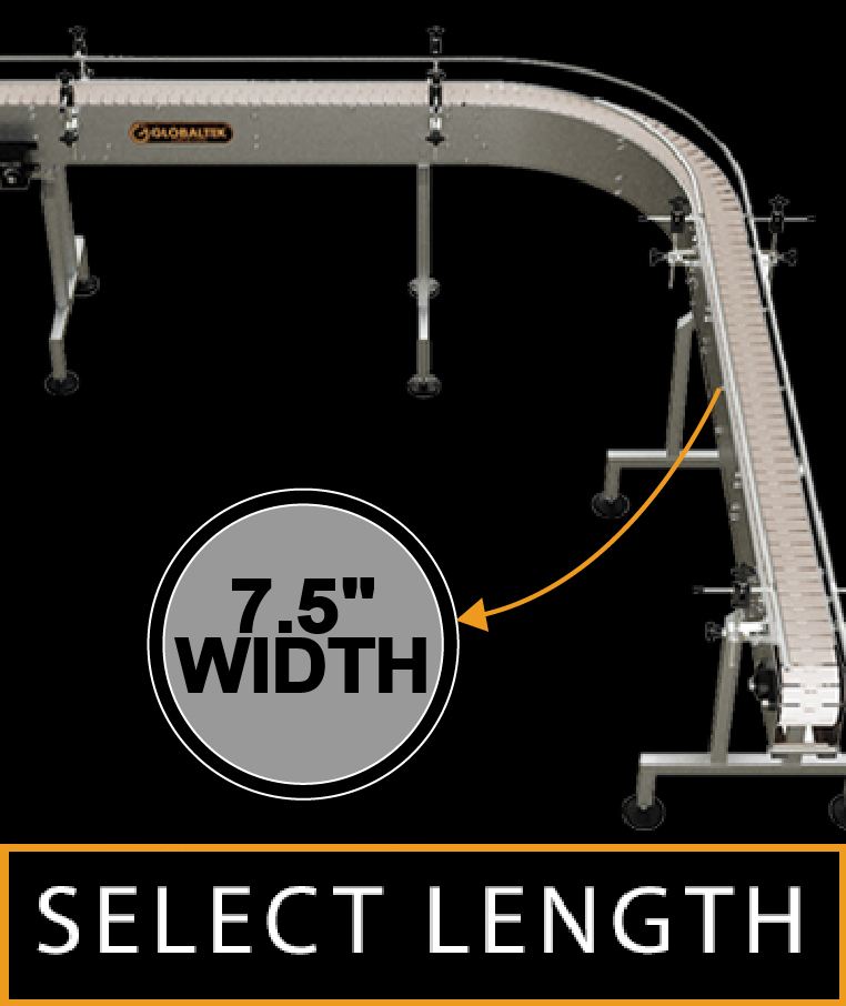 """90 Degrees Curved Conveyors Width 7.5"""""""