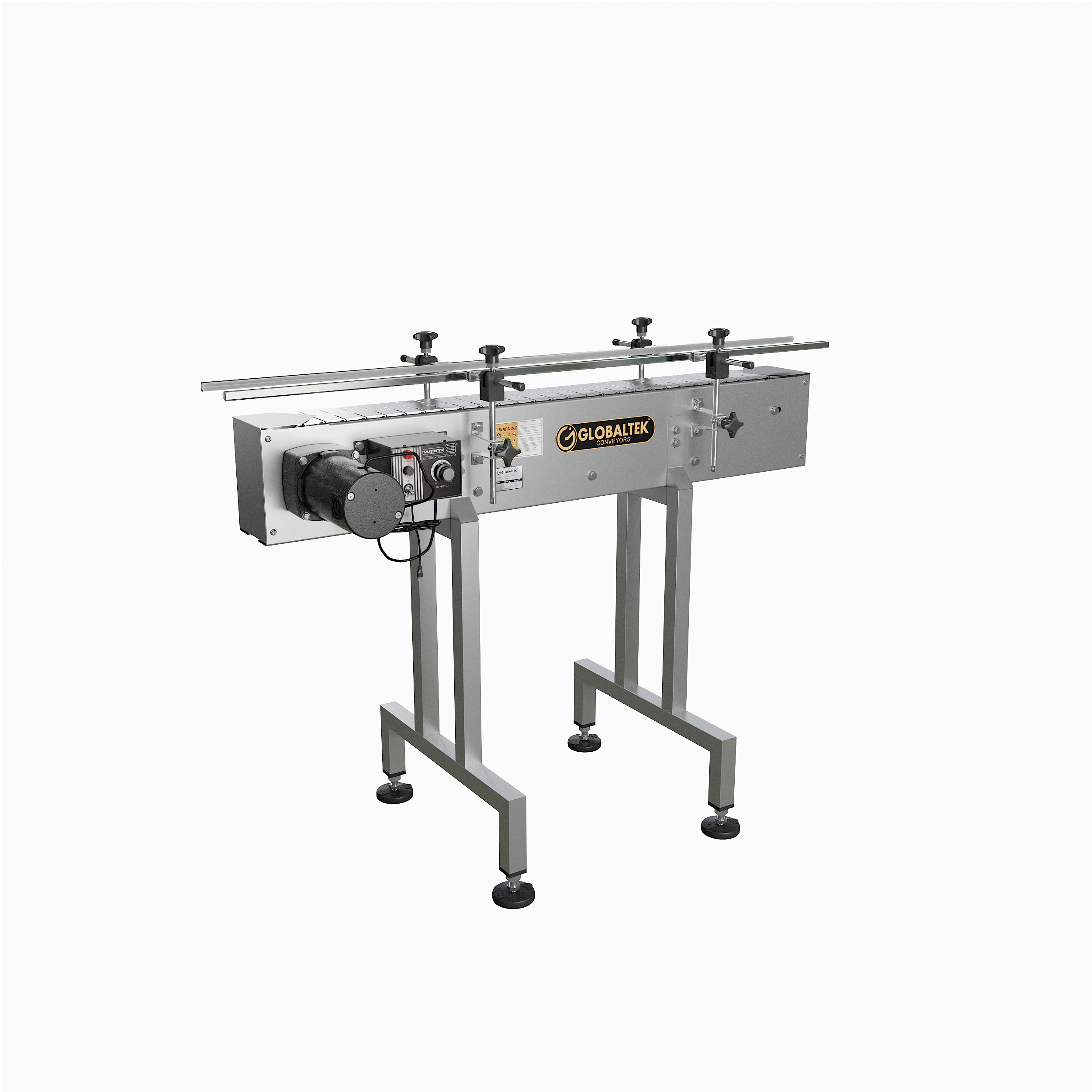 Globaltek Stainless Steel Inline Conveyor With Stainless