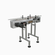 Globaltek Stainless Steel Raised Bed Sanitary Conveyor with Plastic Belt 4.5 Inches Wide